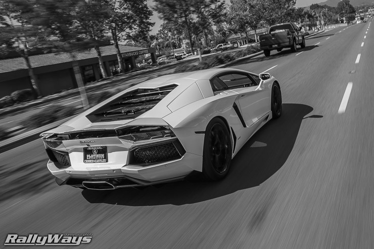 Lamborghini Aventador Rolling Out of HRE Open House 2014