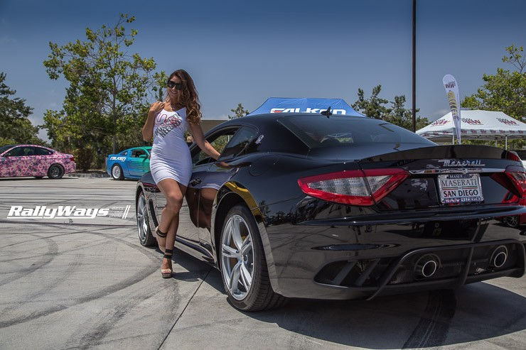 Kianah Lee and a Maserati Gran Turismo