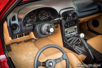 Miata Interior with NRG Quick Release 2.0