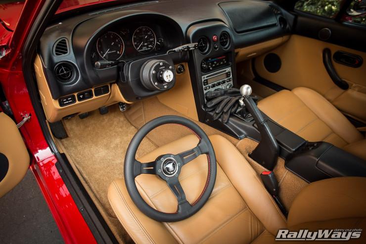 Miata Interior with NRG Quick Release Wide