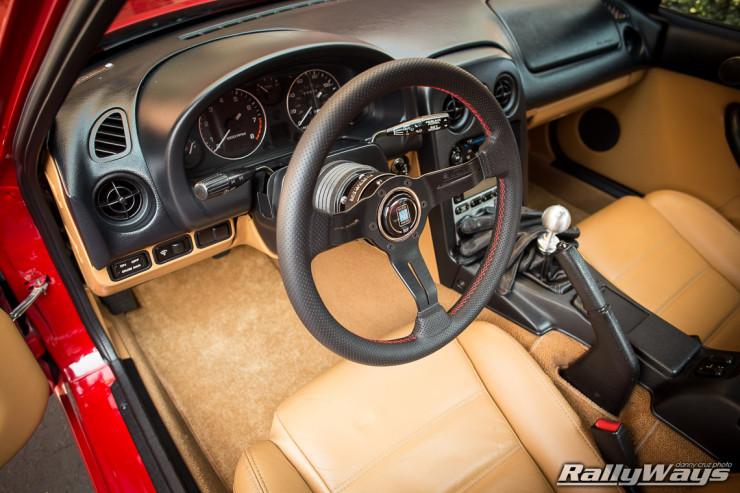Tan Miata Interior with NRG QR 2.0