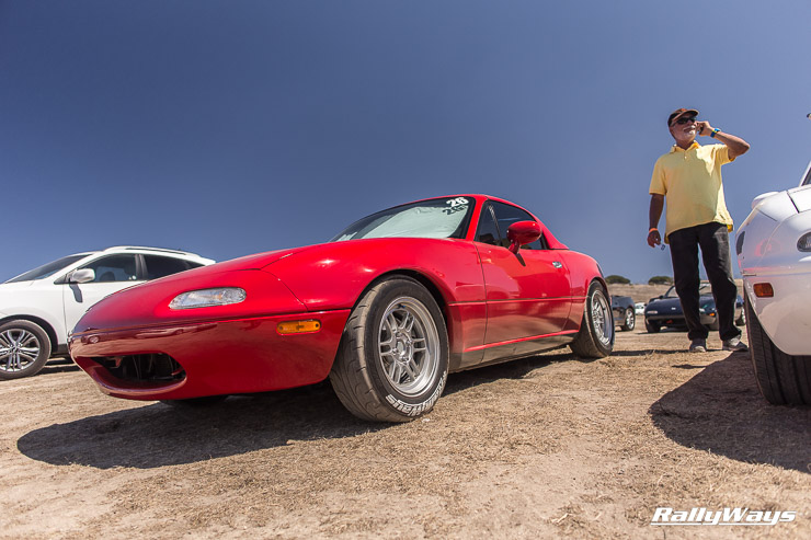 The RallyWays Miata at MRLS 2014 - Hanging out in the dirt.