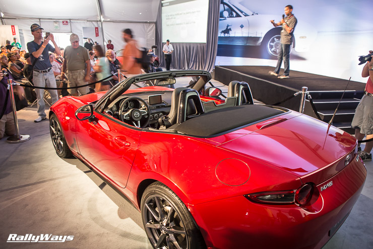 ND Mazda MX-5 Miata on display at the Mazda Fan Zone at MRLS 2014.