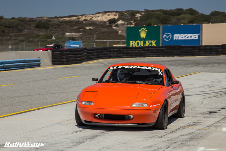 Supermiata coming into the pits