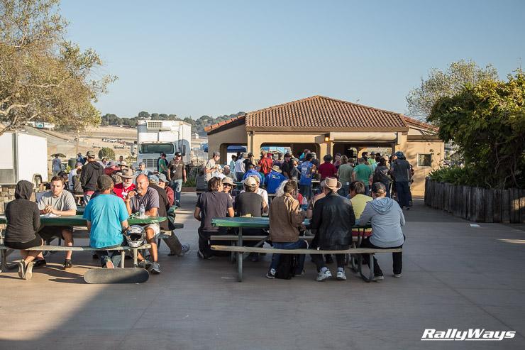 Miatas at Laguna Seca Saturday night BBQ