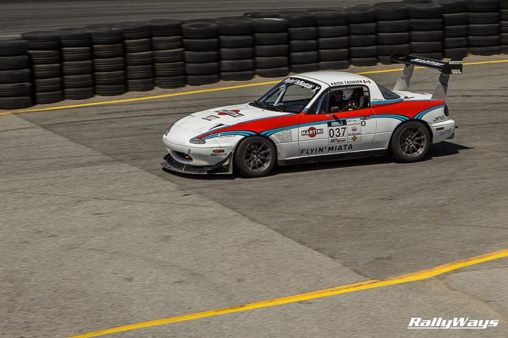 Keith Tanner's V8 powered Martini Miata at MRLS