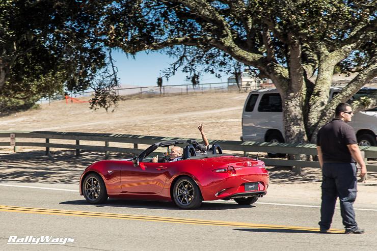 New 2016 Mazda MX-5 Miata rolling on by.