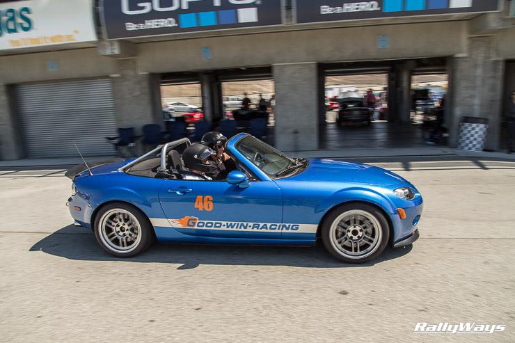 Goodwin Racing Project Blue - Winning Blue NC Miata at MRLS