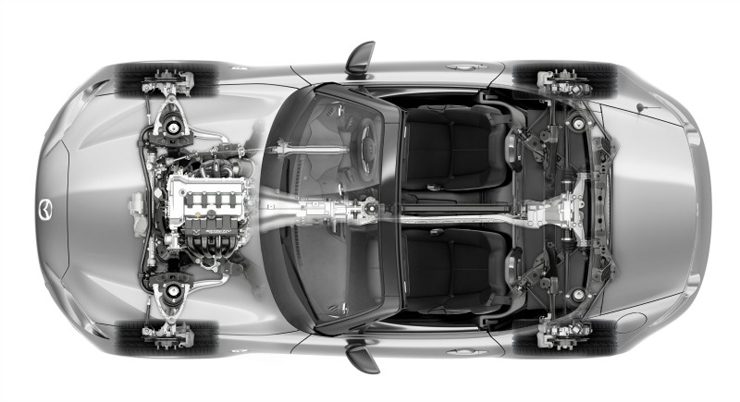ND Miata Chassis Top View