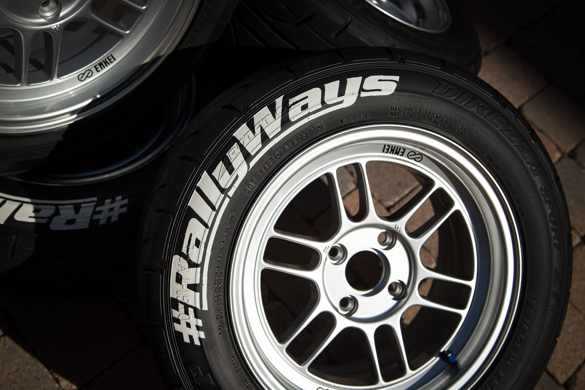 rallyways tire print logos