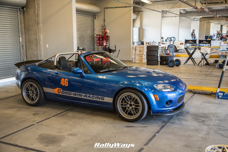 Winning Blue Mazda MX-5 Miata at MRLS