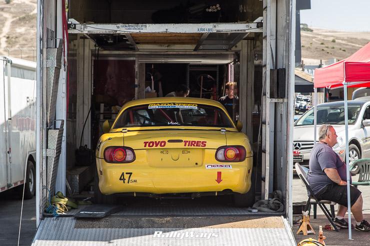Yellow NB Track Car
