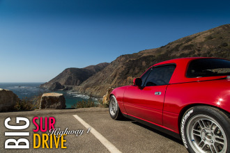 Big Sur Drive Highway 1 in the RallyWays Miata