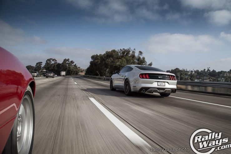 RallyWays Miata Chasing S550 Mustang