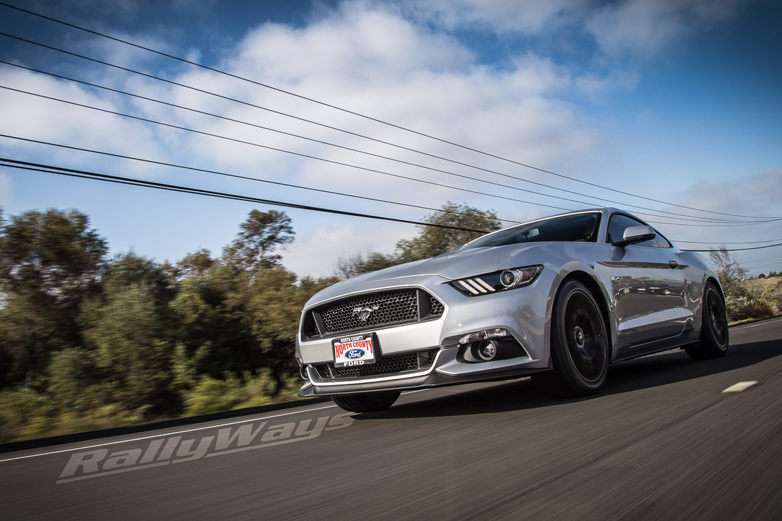 Super rolling shot of the new 2015 Ford Mustang.