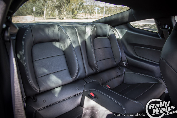 New 2015 Mustang Back Seats - No more headrests, now you can see back!