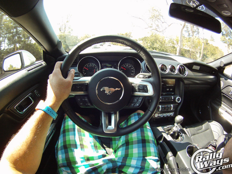 New 2015 Mustang Driving - Steering Wheel View