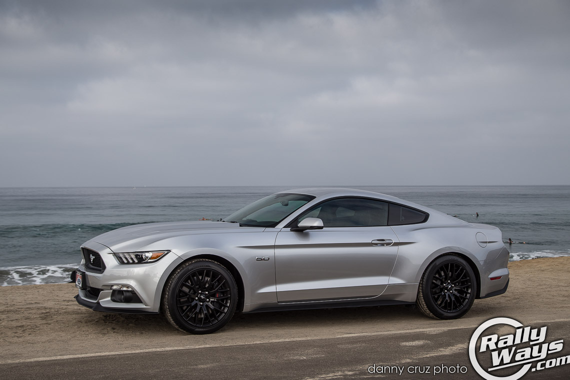 S550 mustang at the beach