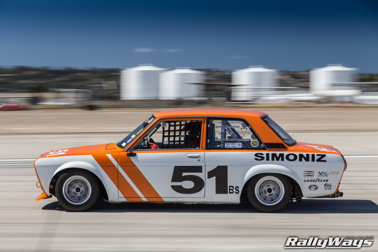 1969 Datsun 510 Race Car at Speed