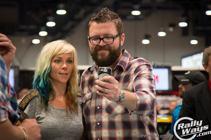 Jessi Combs and Rutledge Wood Selfie - 3M Wrap2Wrap Battle Judges