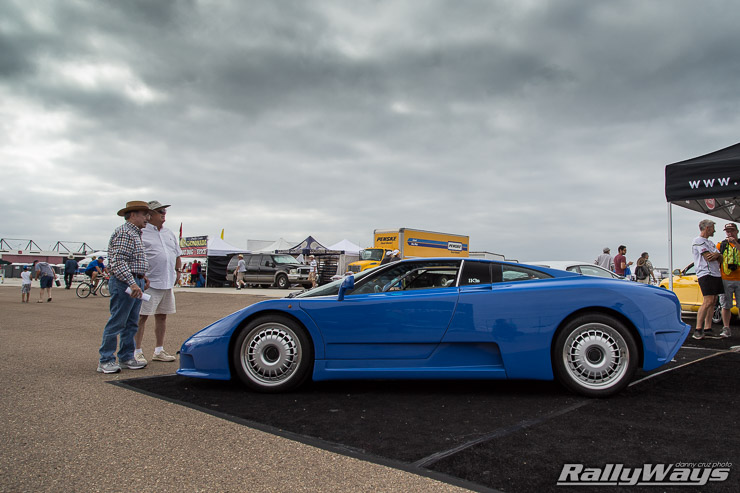 Bugatti EB110 on display at Coronado Speed Festival 2014
