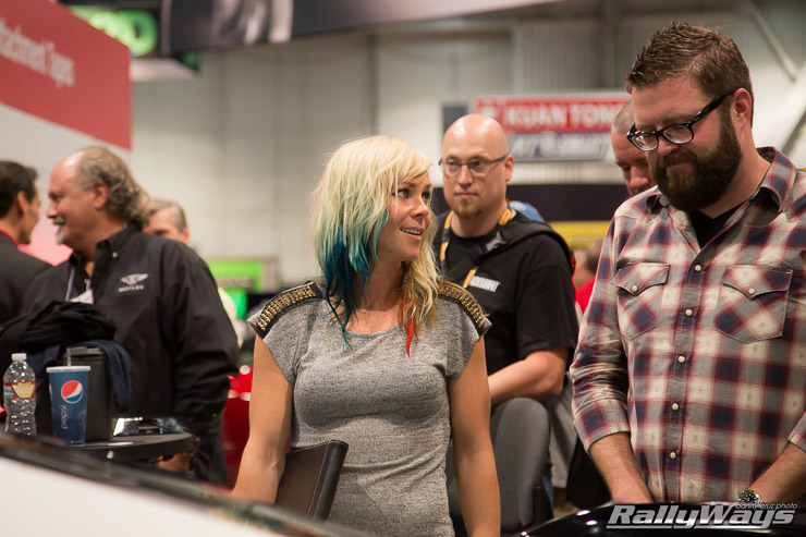 Rutledge Wood and Jessi Combs 3M Booth - SEMA 2014