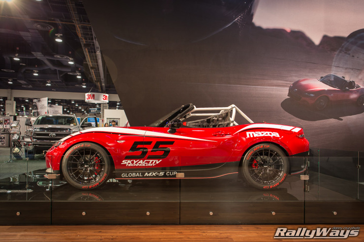 New 2016 Mazda Global MX-5 Cup Car - Side View