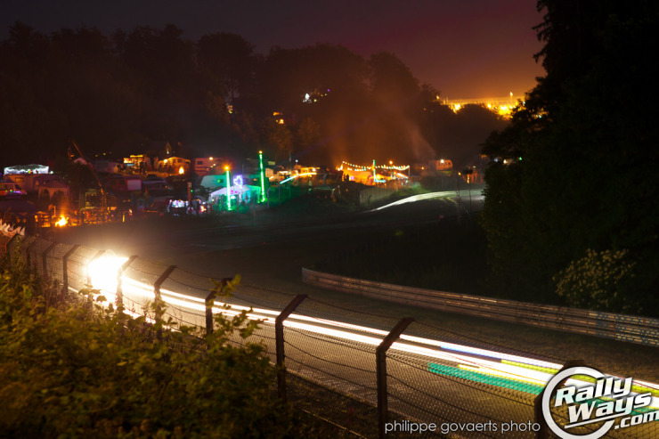 Nurburgring Nordschleife 24 Hour Race at Night