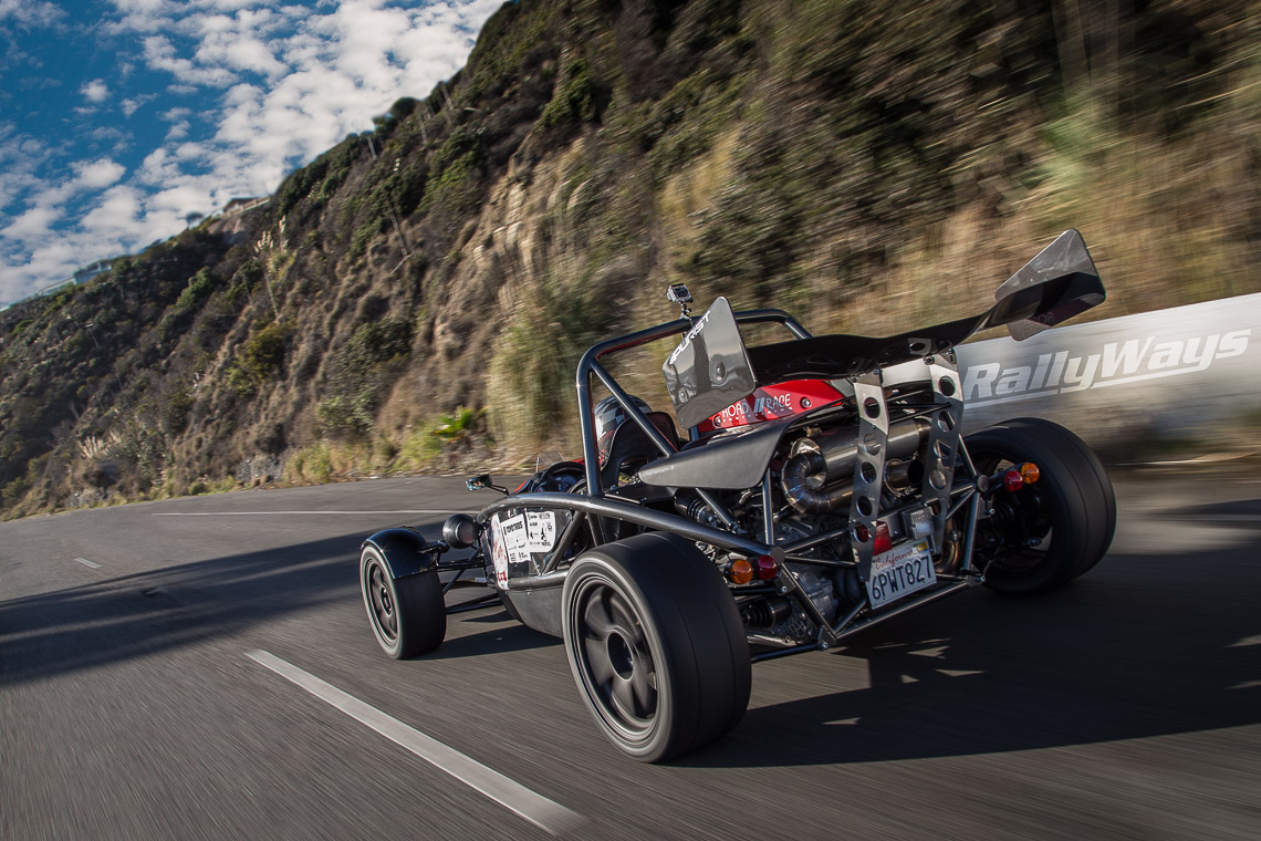 Ariel Atom rolling shot from Targa Trophy Holiday Cruise