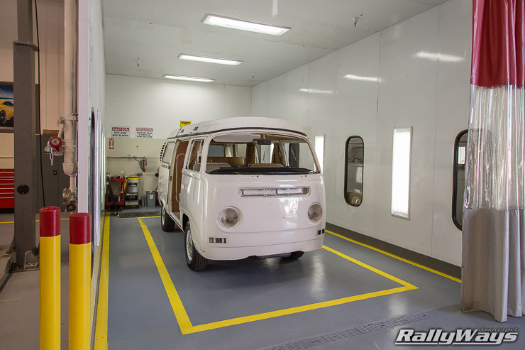 Classic VW Bus Paint Booth