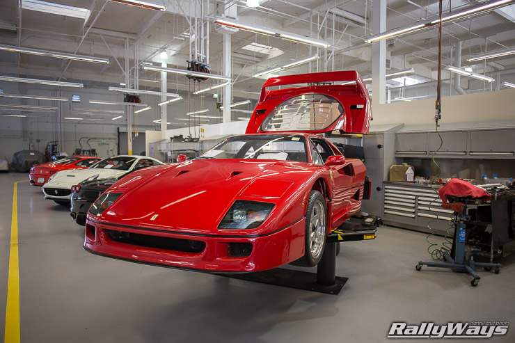 Ferrari F40 Being Repaired