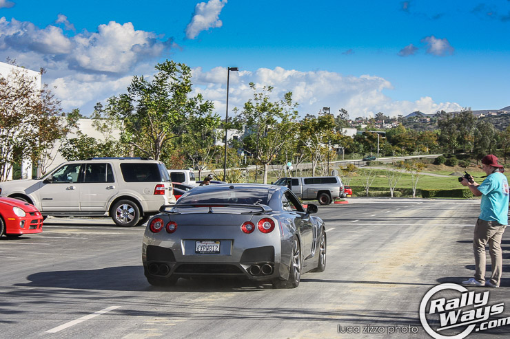 Nissan GTR Leaving the Tacos and Tuners Meet.
