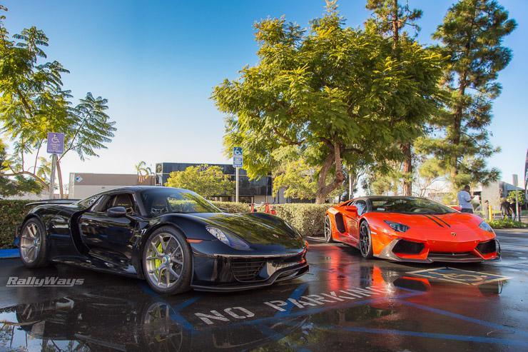 Porsche 918 Spyder and Lamborghini Aventador