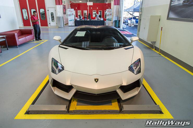 Satin White Lamborghini Aventador