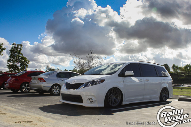 Slammed Toyota Sienna on Aftermarket Wheels