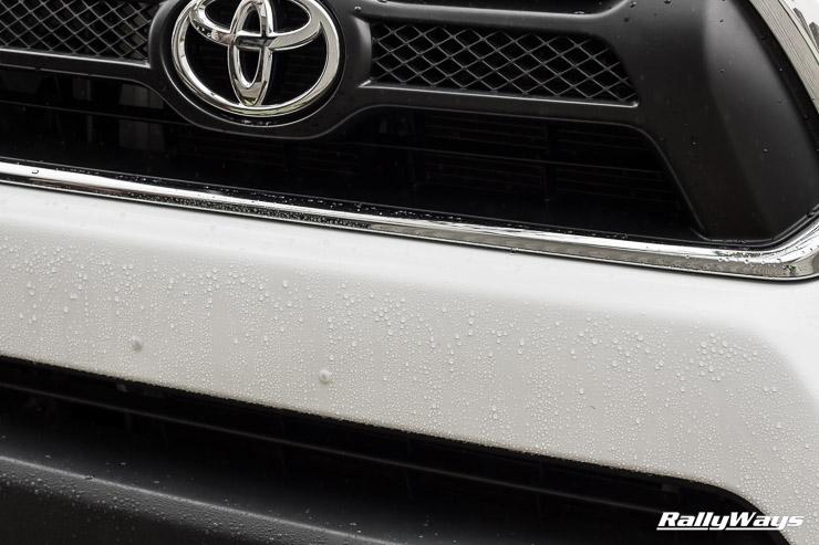 Toyota Tacoma Waxed Front - Wolfgang Paint Sealant 3.0