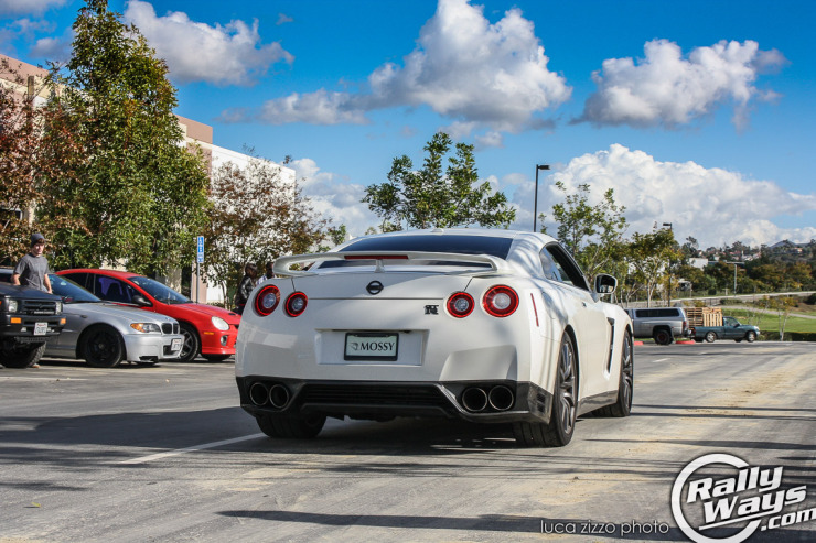 White Nissan GT-R Rolling