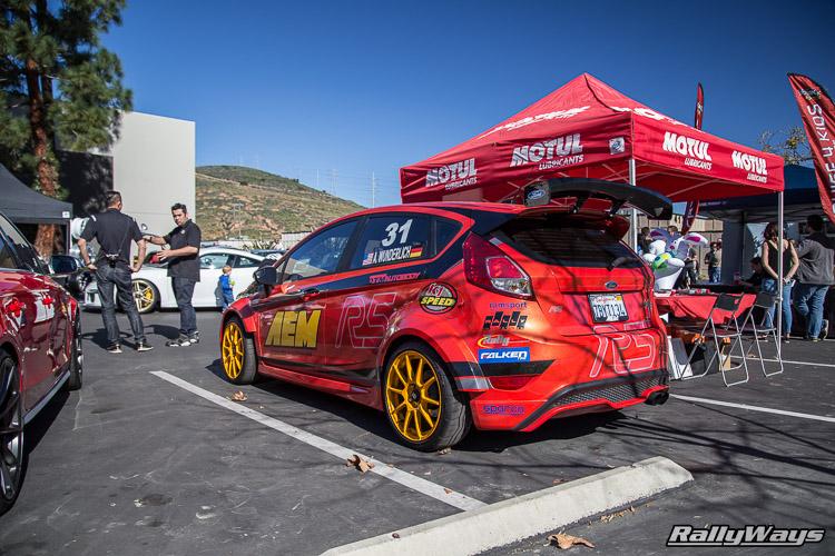 Molten Orange AEM Fiesta ST at HG Motorsports