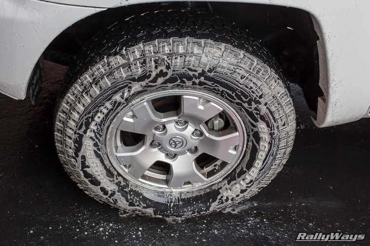 Cleaning Truck Tires - The Suds