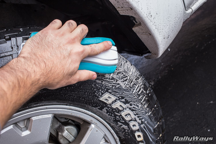 Scrubbing Truck Tires with Simple Green