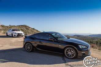 Subaru BRZ and Lexus RC-F in the Mountains