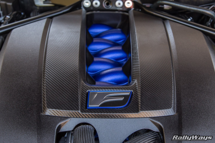 The Engine Cover of a Lexus RC F