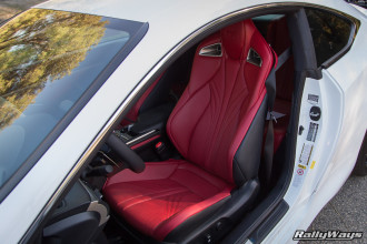 Red Leather Seats - Lexus RC F