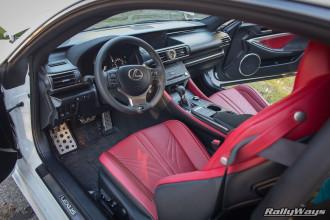 Interior of a Lexus RC-F