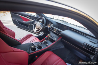 Lexus RC-F Interior Angle