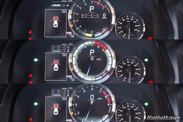 Lexus RC-F Digital Gauge Cluster Changes