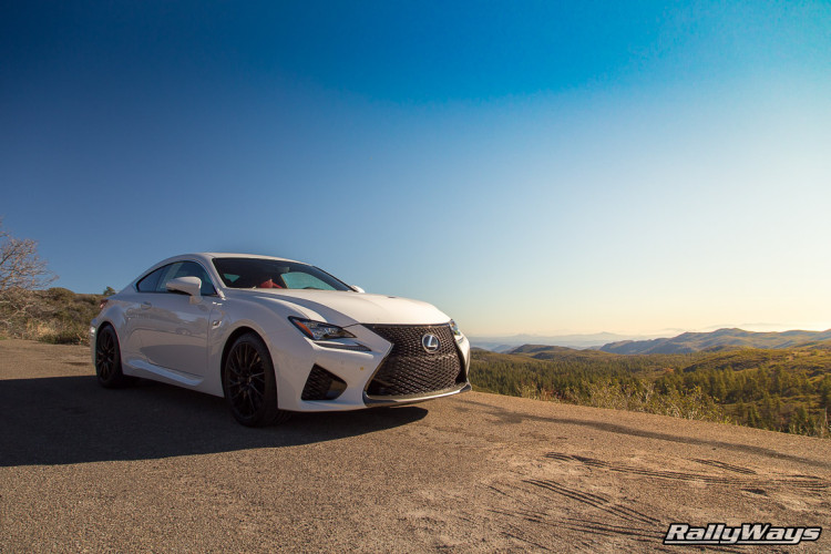Lexus RC F Enjoying the Sunset