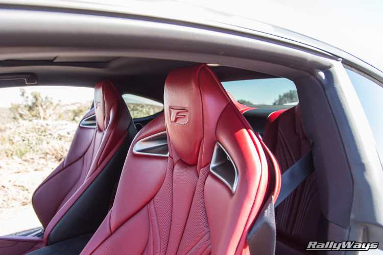 Amazing Styling of the Lexus RC-F Red Leather Seats