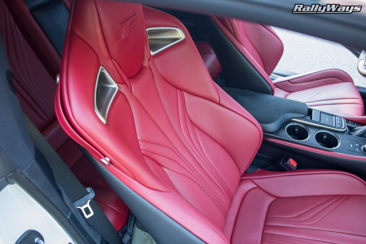 Lexus RCF Red Leather Sport Seats