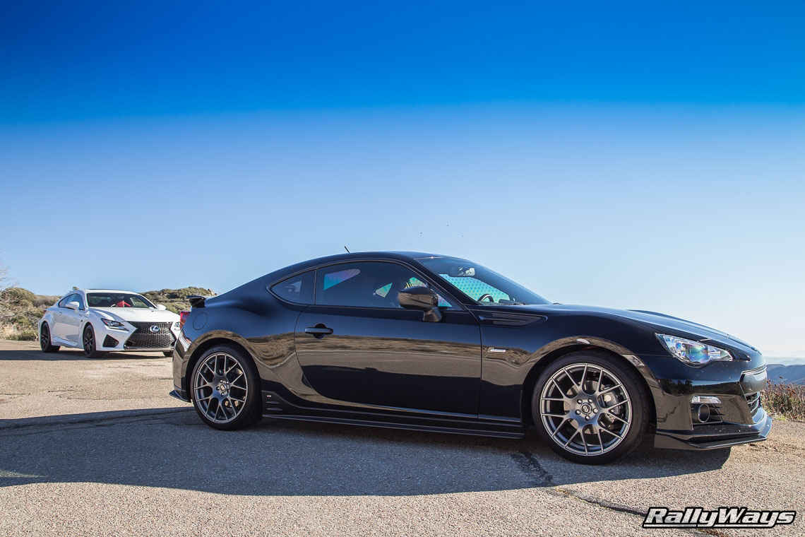 Lexus RC-F and Supercharged Subaru BRZ Back to Back Drive